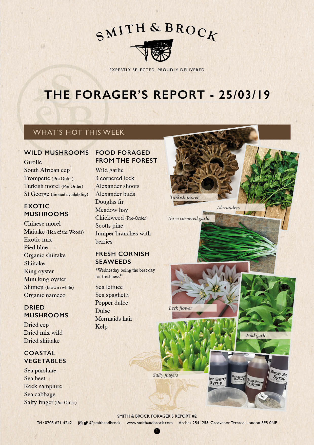 Smith&Brock Foraged Products Report 25 Mar 2019 2
