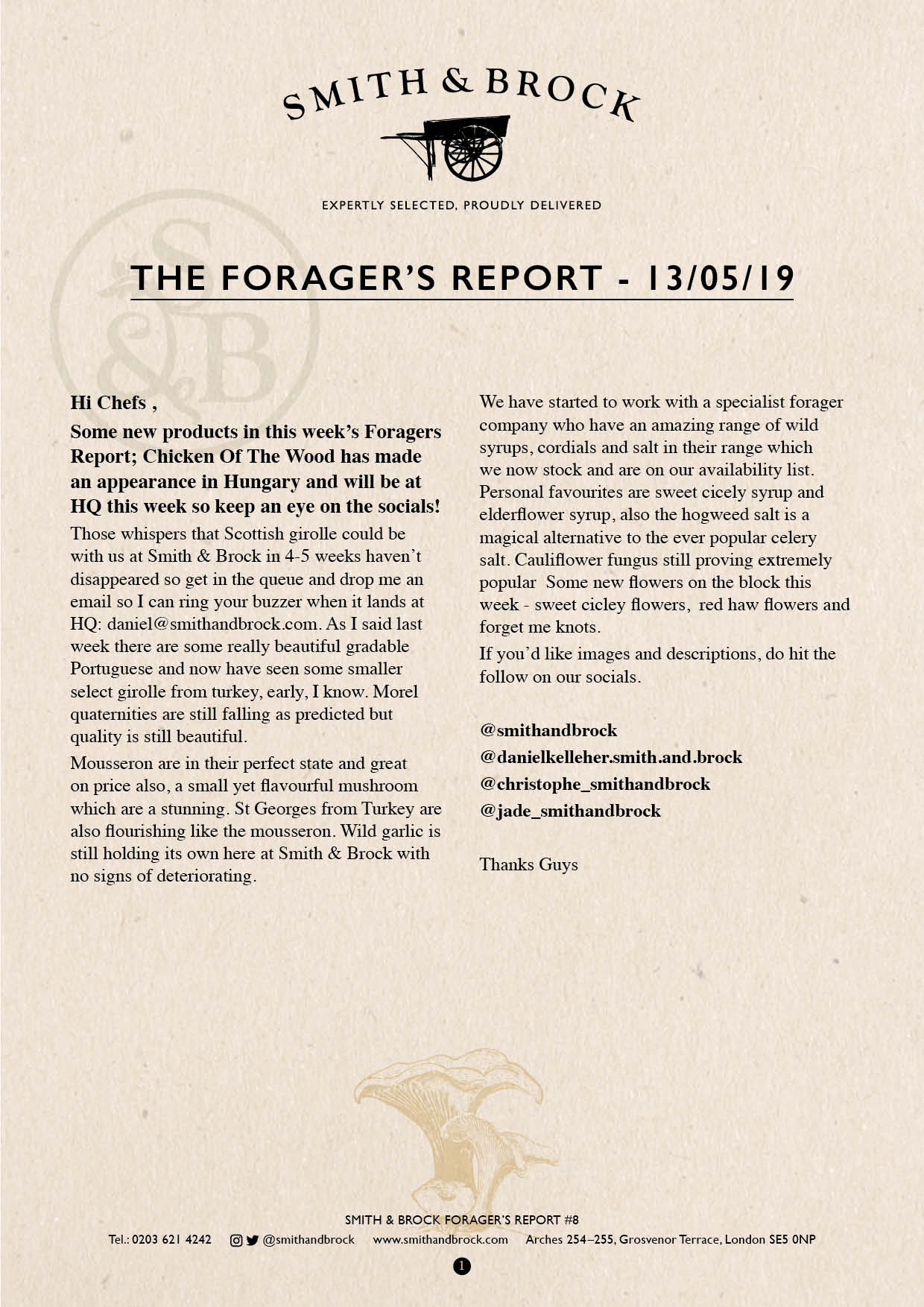 Smith&Brock Foraged Products Report 13 May 2019 #8