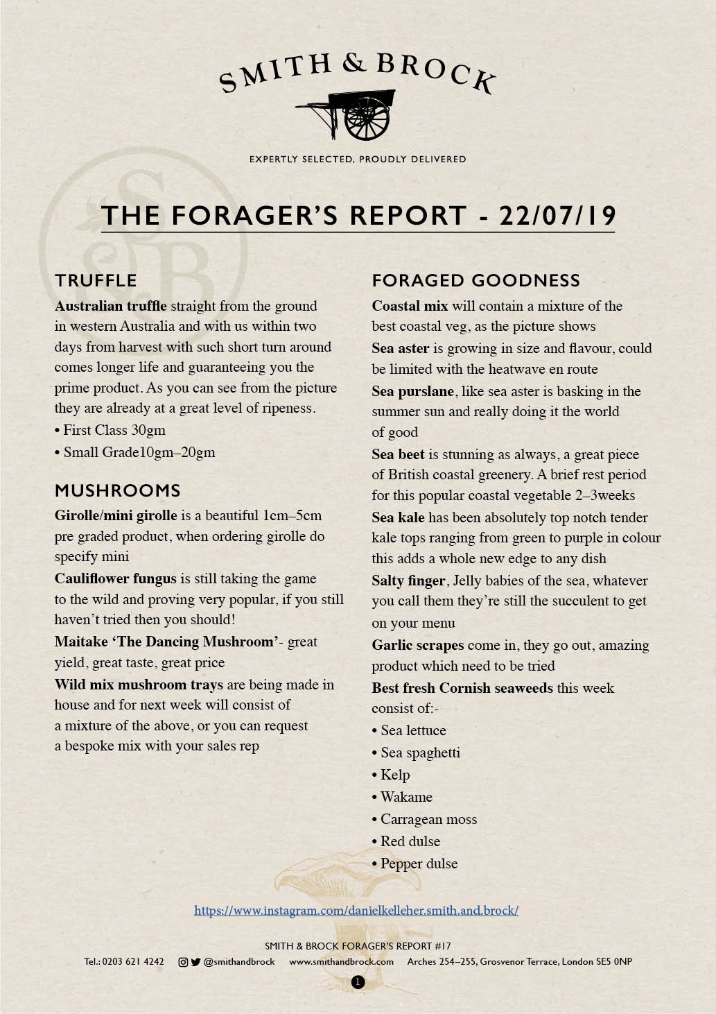 Smith&Brock Foraged Products Report 22 July 2019 17