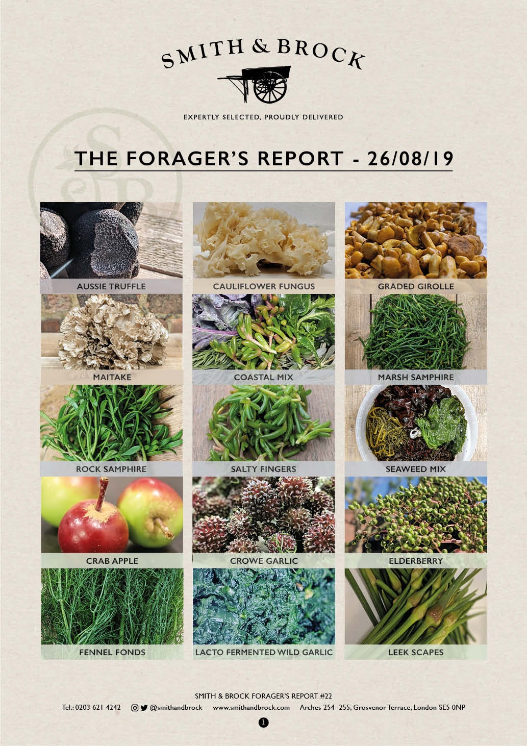 Smith&Brock Foraged Products Report 26 August 2019 22