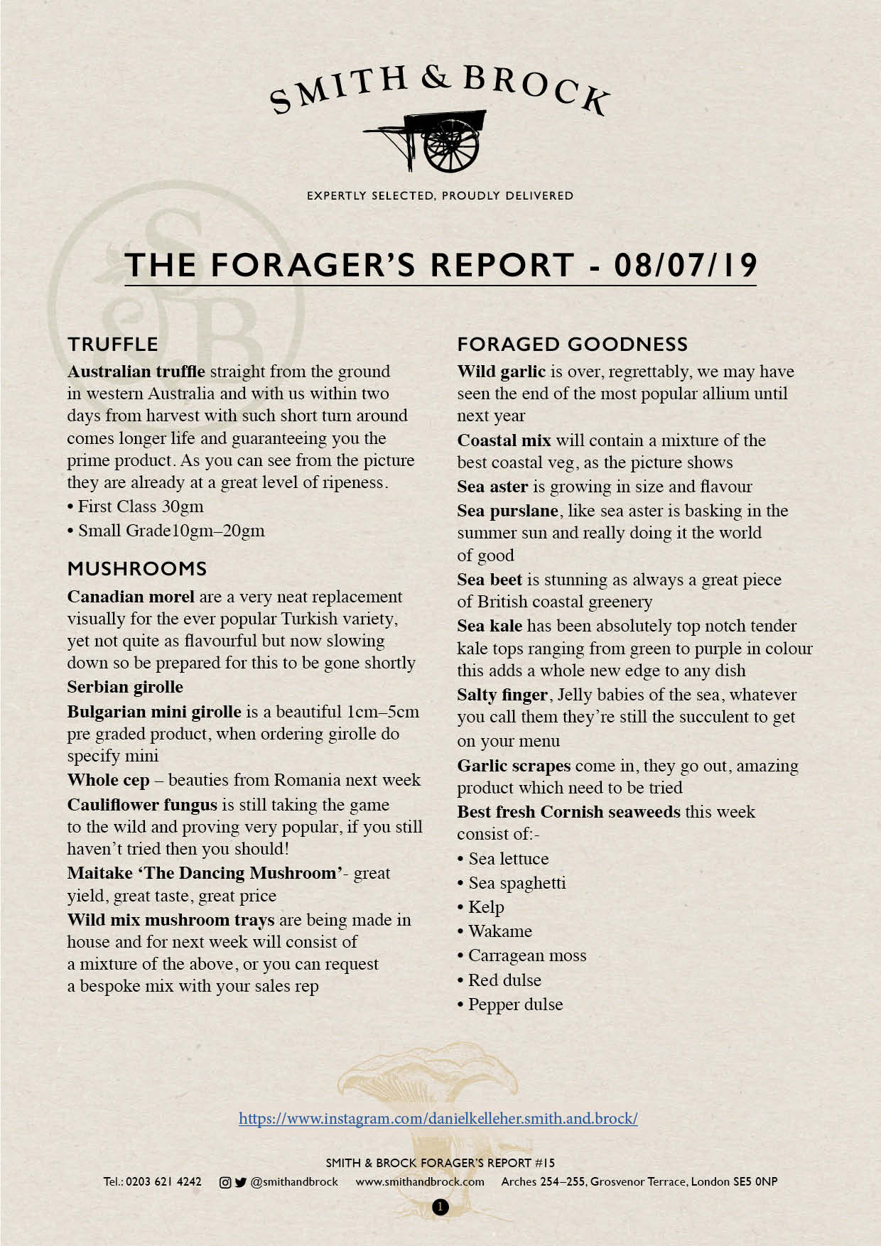 Smith&Brock Foraged Products Report 08 July 2019 15