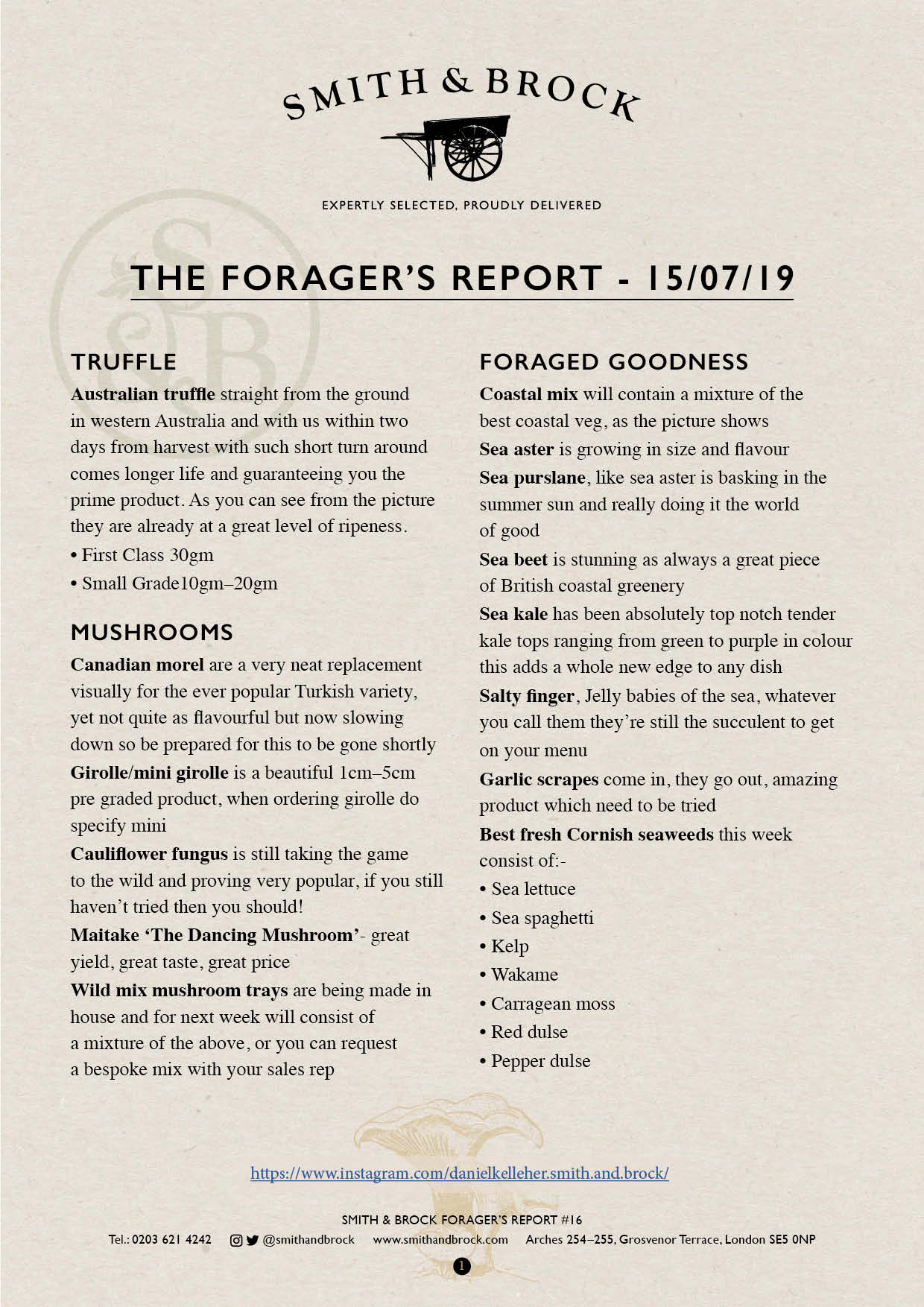 Smith&Brock Foraged Products Report 15 July 2019 16
