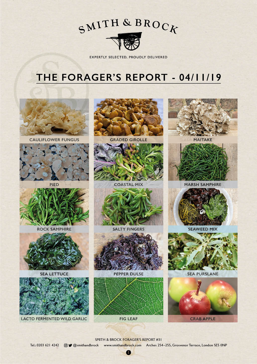 Smith&Brock Foraged Products Report 04 Nov 2019 31