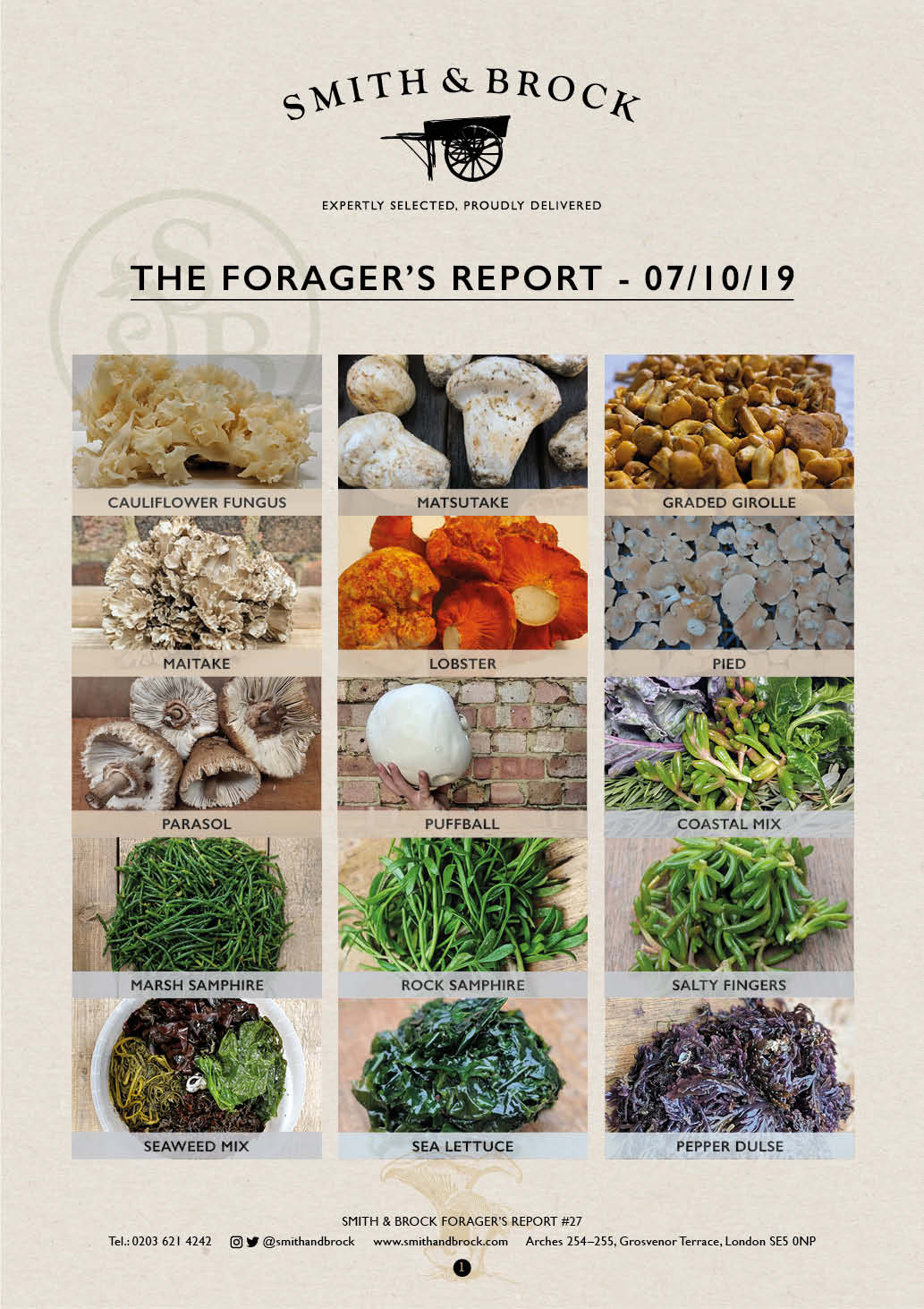 Smith&Brock Foraged Products Report 07 Oct 2019 27