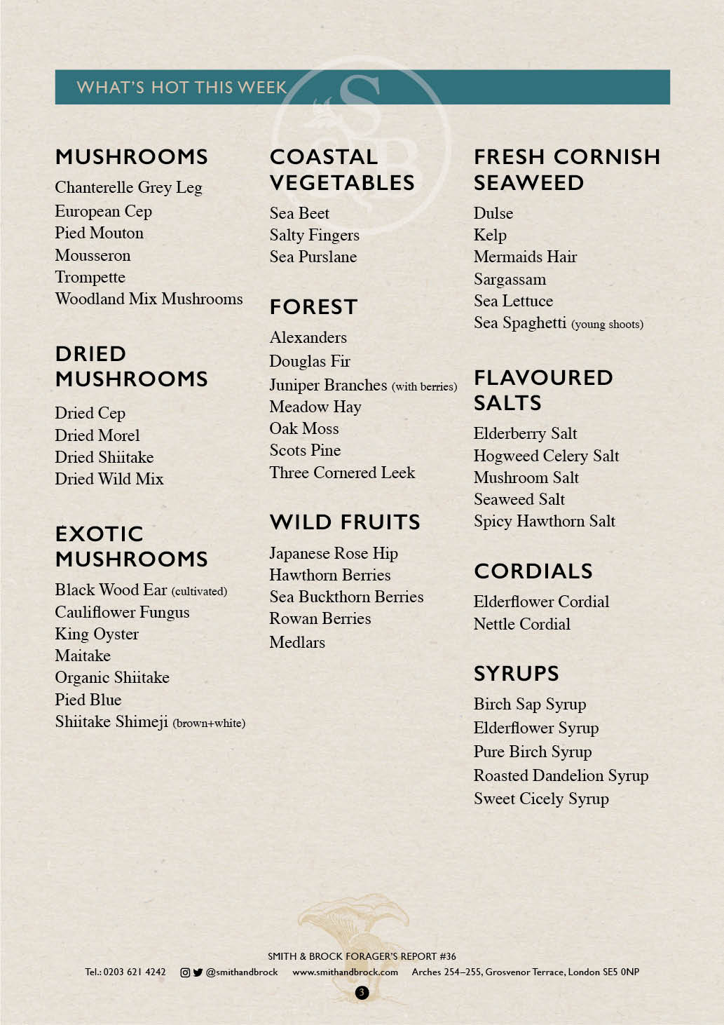 Smith&Brock Foraged Products Report 08 Dec 2019 36 3