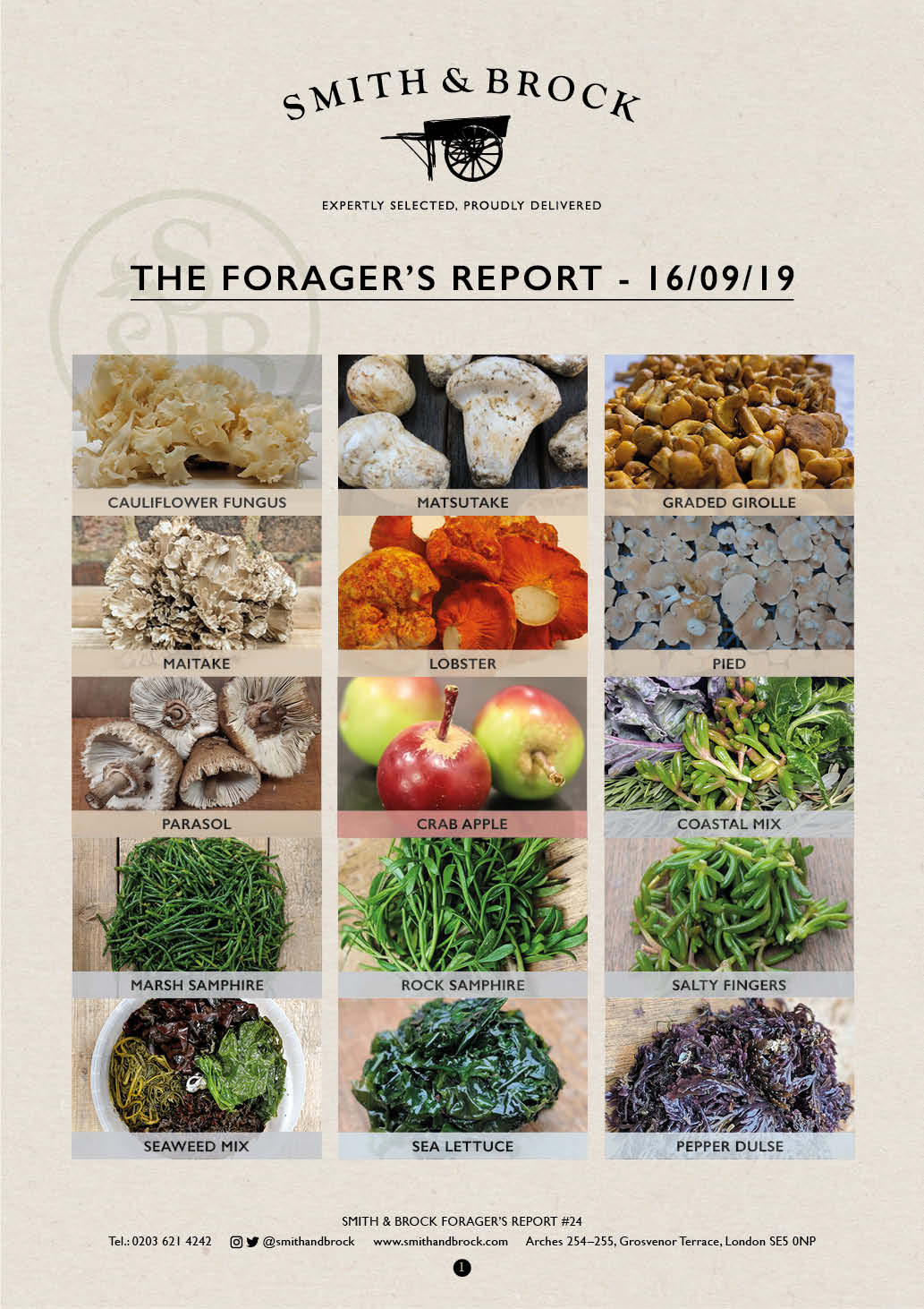 Smith&Brock Foraged Products Report 09 Sep 2019 23