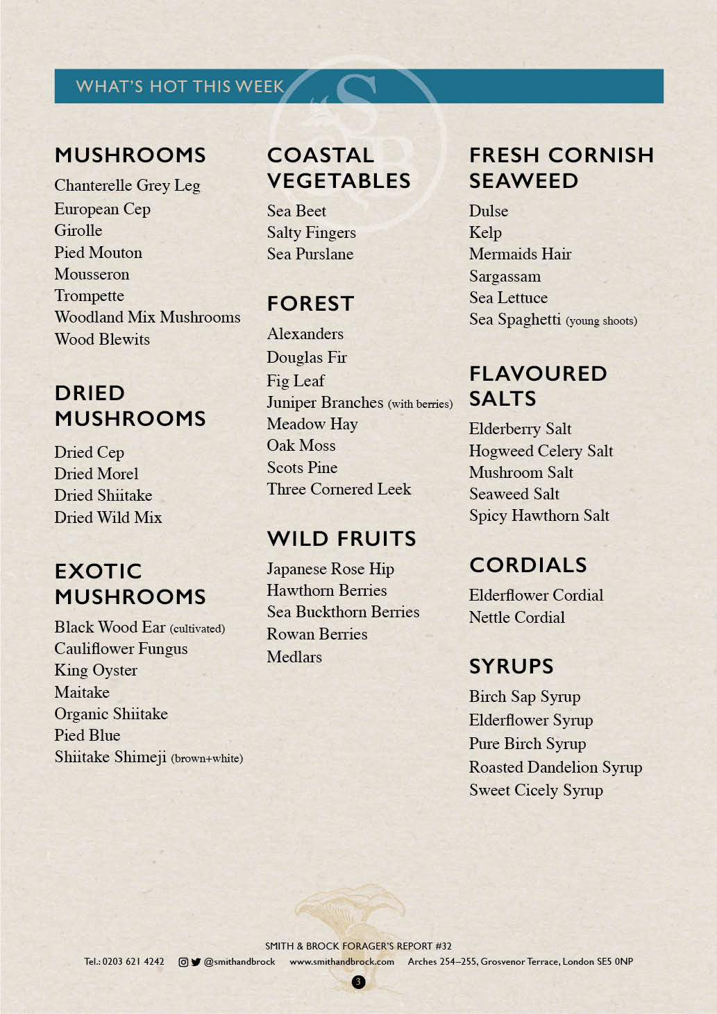 Smith&Brock Foraged Products Report 11 Nov 2019 32 3
