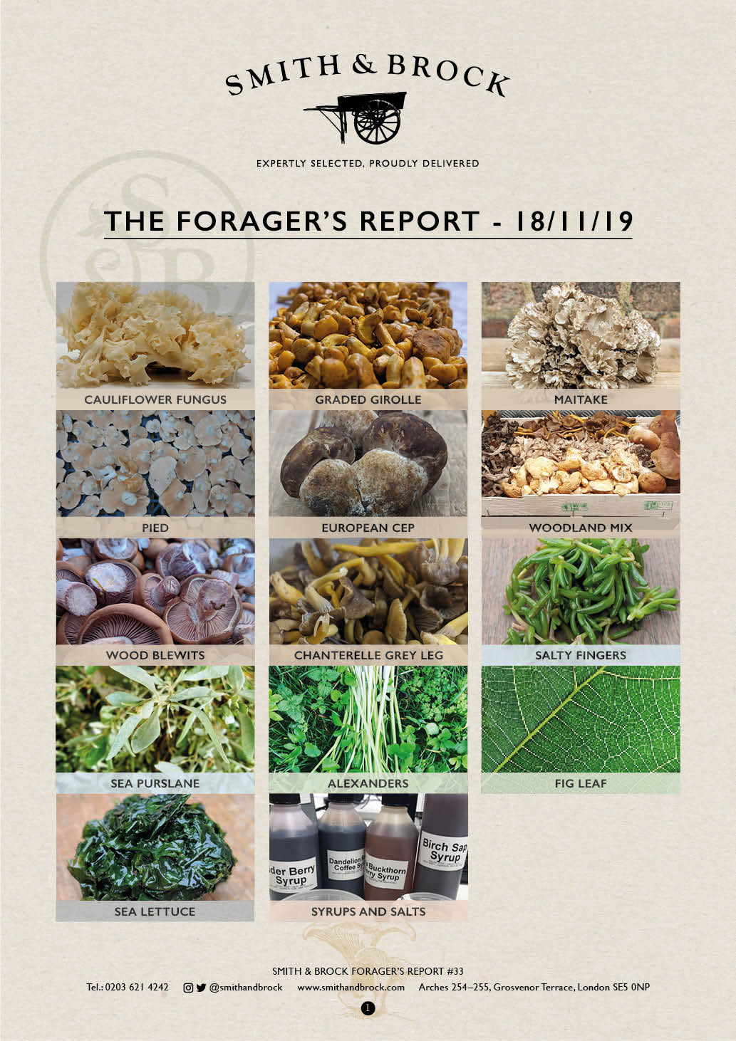 Smith&Brock Foraged Products Report 18 Nov 2019 33