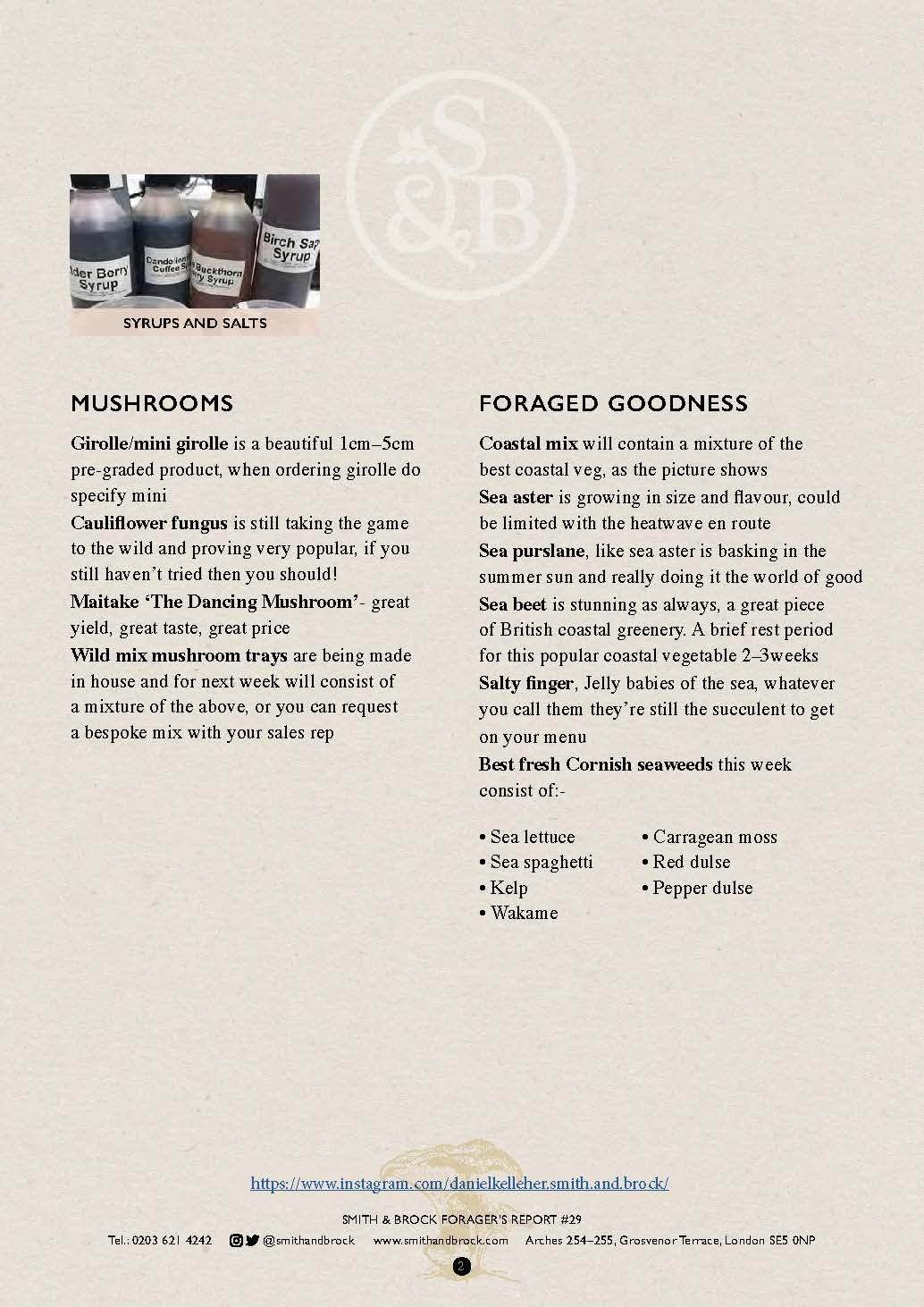 Smith&Brock Foraged Products Report 21 Oct 2019 29 2