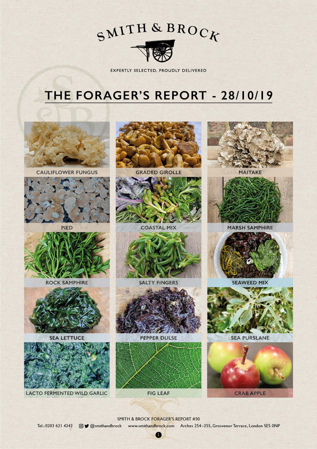 Smith&Brock Foraged Products Report 28 Oct 2019 30