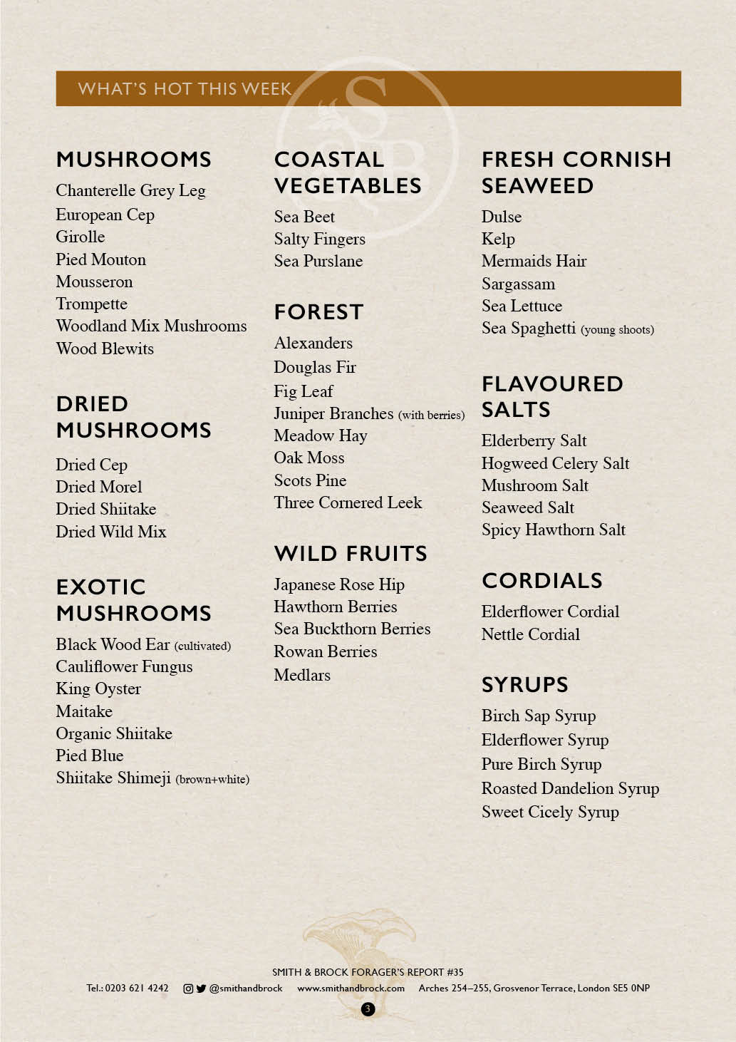 Smith&Brock Foraged Products Report 02 Dec 2019 35 3