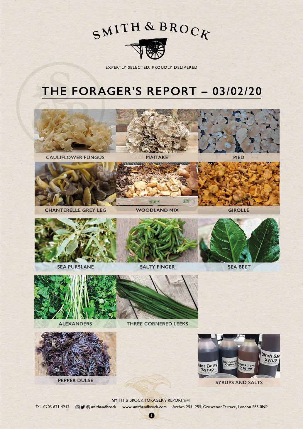 Smith&Brock Foraged Products Report 03 Feb 2020 41